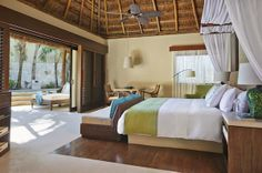 """""""Magical Mayan Escape to The Viceroy, Riviera Maya"""" All 41 secluded villas feature a private terrace complete with an uber-comfy, handmade hammock, a good-sized, heated plunge pool (swimsuits optional) alfresco moon shower, high-ceiling thatched-palapa roof, 500-thread-count Egyptian cotton sheets, a pillow menu, and a hand-carved stone dining table. Further amenities include A/C units, Nespresso coffee maker, purified water, Bose radio with iPod dock, HDTV and DVD player, complimentary…"""