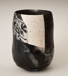 "Irina Okula, Saggar Shard Pot 2, Low-fired earthware clay, 7"" x 5.5"" x 5.5"", 2015"