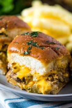 How to make the best Philly cheesesteak sliders on Hawaiian Rolls brushed with garlic butter and baked in the oven. Easy recipe perfect for a Game Day crowd, holiday guests, party food, and more. Makes a great homemade appetizer or dinner dish. Hawaiian Roll Sandwiches, Rolled Sandwiches, Slider Sandwiches, Hawaiian Rolls, Hawaiian Roll Sliders, Best Philly Cheesesteak, Philly Cheese Steak Sliders, Hamburgers, Easy Dinner Recipes