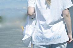 [ Lizzie Lo ] : it's a good start [Maison Martin Margiela boot cover as a mask  +  AIDS charity tee  +  cotton bag  +  dégradé 08 jeans  +  dégradé 08 cowboy boots]