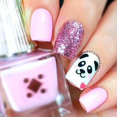 Cute nail designs are the ones that make you look and feel special. That is why in case you are at a loss for ideas, we may have some suggestions, to help you out, in mind. herz 27 Ideas of Cute Nail Designs to Melt Your Heart Nails For Kids, Girls Nails, Pink Nails, Panda Nail Art, Animal Nail Art, Girls Nail Designs, Cute Nail Designs, Trendy Nail Art, Stylish Nails