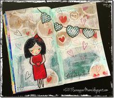 Playful Paper Hearts {Art Journal}