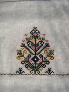 tree of life embroidery, Bulgaria Folk Embroidery, Cross Stitch Embroidery, Embroidery Patterns, Cross Stitch Designs, Cross Stitch Patterns, Tiny Star, Cross Stitching, Knitting, Ideas