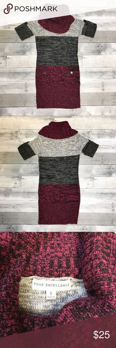 """∆ 5/$15 ∆  NWOT Poof Excellence Sweater Dress Cute bodycon sweater dress from poof excellence in perfect condition!  Add ANY 4 or 9 other items with """"∆ 5/$15 ∆"""" in the title for HUGE savings! 5/$15 OR 10/$25!!! Poof Excellence Dresses"""