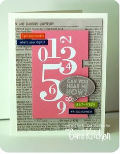 In love with this card by Kimber. Just a fun happy mix of stuff!