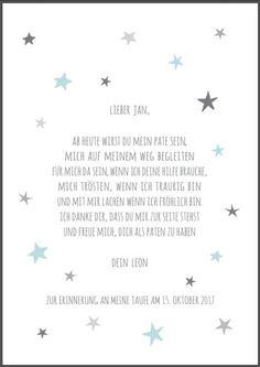 Das Geschenk zur Taufe vom Patenkind an Patentante oder Patenonkel, ein personalisierter Druck von bei.werk in **türkis / grau, rosa / grau oder blau / grau** DIN A4 Druck von beiwerk, 270g/m²,...