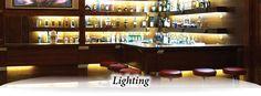 Lighting Plastic Industry, Glass Shelves Kitchen, White Lenses, Business Names, Liquor Cabinet, Shelves Lighting, New Homes, Lights, Mansions