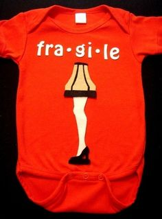 A Christmas Story Onesie - for sure have to get this for the next kiddo