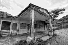 """Jerome, Arizona Abandoned gas station April 30th, 2015 """"Jerome to Ashford, via Perkinsville and Williams"""" trip"""