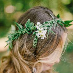 Greenery Laurel Bride Flower Crown