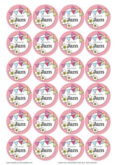 Great British Summer Themed Printable Label Templates For Jam Jars Lids Editable Strawberry Raspberry Apricot Cherry