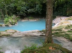 The Blue Hole is an area with secluded and relatively untouched falls located in the hills of Ocho Rios, Jamaica. Its best feature is probably that it is not commercialized in any way.  Everyone who visits The Blue Hole raves about its beauty and serenity.