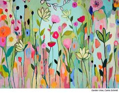 Learn to paint with Acrylic artist Carrie Schmitt