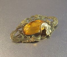 Vintage Victorian Sash Pin Brooch Dragon