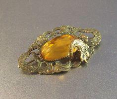 Vintage Victorian Sash Pin Brooch Dragon by LynnHislopJewels