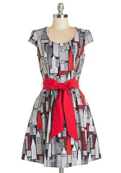 New York Pretty Dress. Show your love for the city that never sleeps in this boldly metropolitan dress!  #modcloth
