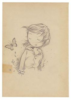 Swingsetter [in color] Daily Drawing, Drawing Skills, Doodle Sketch, Doodle Art, Kurt Halsey, Beauty In Art, Butterfly Drawing, Korean Art, Art Journal Inspiration