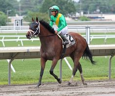 Stablemates Genre and Eskenformoney battled down the stretch in $100,000 Molly Pitcher S (gr. III) July 31, 2016 at Monmouth Park before Genre thrust out her neck for the victory.
