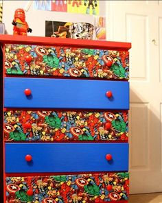Need to get this done for my boy's bedroom... & a desk to match! In need of decoupage tips... ✂️