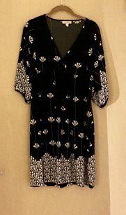 4c6afa07ee9 En Focus Studio short dress Black Kimono Boho Fan Stretchy on Tradesy