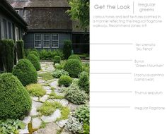 Get the Look- Irregular Greens.  Thinking Outside the Boxwood