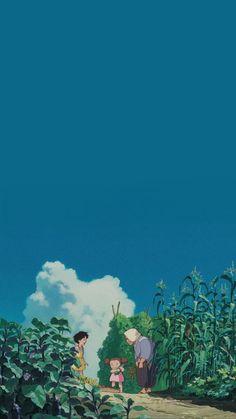 Cute Wallpaper Backgrounds, Cute Cartoon Wallpapers, Animes Wallpapers, Art Studio Ghibli, Studio Ghibli Movies, Anime Scenery Wallpaper, Anime Artwork, Personajes Studio Ghibli, Studio Ghibli Background