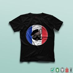 French Me  Dog Lovers  Organic Tee  Women's by TheBlackTeeShack