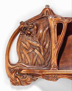 Art Nouveau Furniture, Wood Carving Art, Art Nouveau Design, Fruit Art, Decorative Objects, Love Art, Art Drawings, Interior Decorating, Arts And Crafts