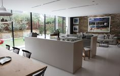 Chloe's Stylish West London Home (Amazing open plan kitchen/living room/dining room)