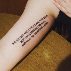 Robert Frost tattoo