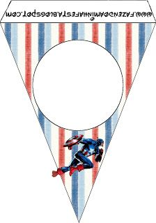 Captain America: Free Party Printables and Images.