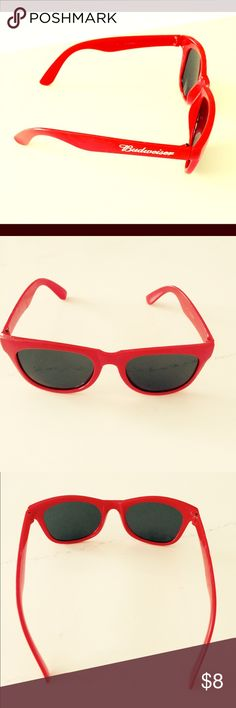 $5 if bundled Budweiser red sunglasses Cute red sunglasses with Budweiser logo on side. Made of plastic. No scratches. Budweiser Accessories Sunglasses