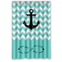 Special Design Live The Life You Love Infinity Chevron Anchor Waterproof Bathroom Fabric Shower Curtain Decor X