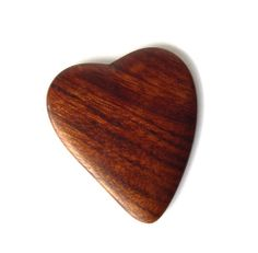 Heart  Mopane Wood Guitar Pick  Designed by by ChristalosDesign, $9.00