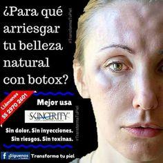 El Botox, también conocido como toxina botulínica, es un veneno producido por la bacteria Clostridium Botulinum y puede provocarte reacciones alérgicas como: Picazón, ronchas, síntomas de asma, debilidad, etc. ¿Para qué correr ese riesgo? MEJOR REJUVENECE TU PIEL DE FORMA SEGURA Y SIN PERDER TU BELLEZA ORIGINAL. Resultados garantizados. Tu piel se va transformando con el uso de Skincerity, a diferencia de otros productos, cuyo efecto tensor únicamente dura pocas horas. LLÁMANOS o envíanos un…
