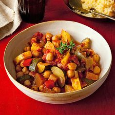 Chickpea Ratatouille - I heart veggies.  This was great.  I will do again.  I served it over quinoa instead of couscous.