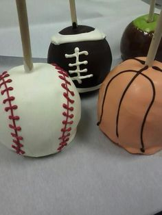 Manly Man Sports Apples... could also make cake pops