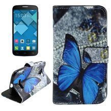 Pěneženkové pouzdro Blue Butterfly na alcatel one touch pop c7