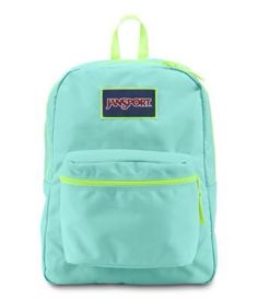 Jansport/Backpack/Sky Blue & Neon/For Adult & Kids/For school//  www.erikaannevflores.com #jansport
