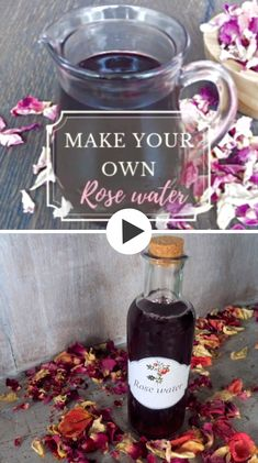 Skin Care Discover Rose water Discover revitalizing rose water benefits its uses in cosmetic and in other areas DIY video and easy steps how to make your own rose water. Rose Oil, In Cosmetics, Homemade Cosmetics, Natural Cosmetics, Homemade Beauty Products, Natural Products, Diy Skin Care, Herbal Medicine, Diy Beauty