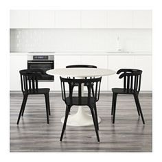 IKEA - DOCKSTA / IKEA PS 2012, Table and 4 chairs, A round table with soft edges gives a relaxed impression in a room.You sit comfortably thanks to the armrests.You sit comfortably thanks to the shaped back.