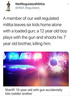 But guns don't kill people, right? We don't need any way to prevent these unnecessary deaths, do we?