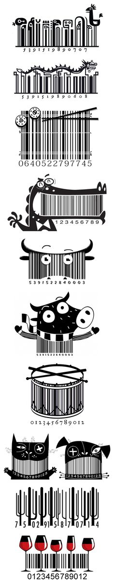 Steve Simpson: Illustrated Bar Codes (UPC)