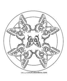 coloriage d u0027un mandala indien rosace aux papillons patterns