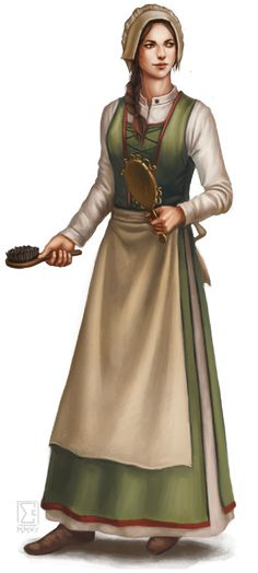 f townsperson Maid brush npc DSA Zimmermädchen
