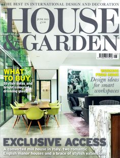 ………………………… Welcome to my June 2013 edition of 'At The Newsstand', where I scrutinize the month's shelter magazines looking for inspiring … English Manor Houses, English House, Converted Barn, Nina Campbell, Vintage Magazines, Pdf Magazines, House And Home Magazine, Home Buying, Home And Garden