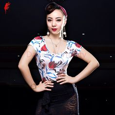 >> Click to Buy << Latin dance clothes sexy ice silk short sleeves  latin dance top for women latin dance top girls latin dance clothes S-XXL #Affiliate