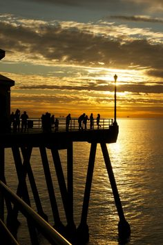Huntington Beach sunset, California