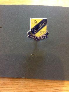 Butlin's Enamel Badge Pwllheli 1957, Royal Blue & Yellow    eBay