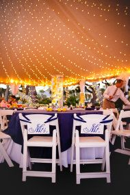 Jekyll Island Wedding Under the tent next to the beach.